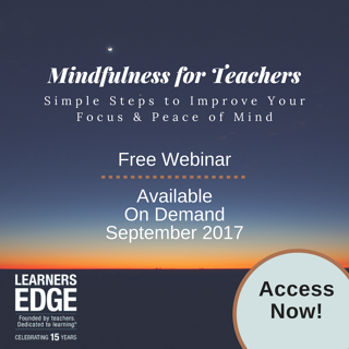 Mindfulness for Teachers Webinar