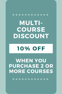 Multi-Course Discount gets you 10% off when you purchase 2 or more courses