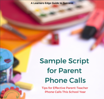 Parent Phone Call Script Cover Image