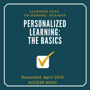 Personalized Learning Webinar