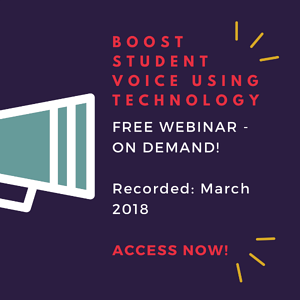 Boost Student Voice Using Technology Webinar