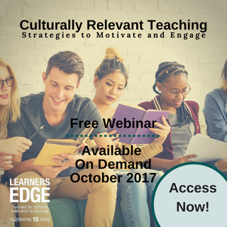 Culturally Relevant Teaching Webinar